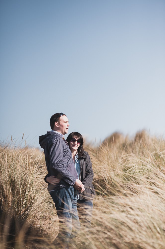 Ursula and Colin Engagement Shoot at Portmarnock Beach in Dublin by Alternative Irish Wedding Photographer (11)
