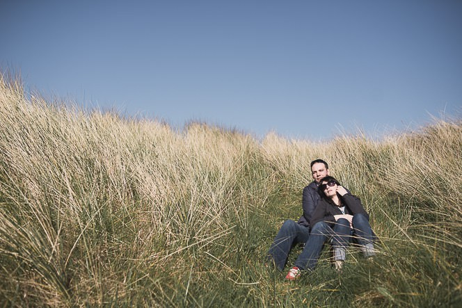 Ursula and Colin Engagement Shoot at Portmarnock Beach in Dublin by Alternative Irish Wedding Photographer (12)