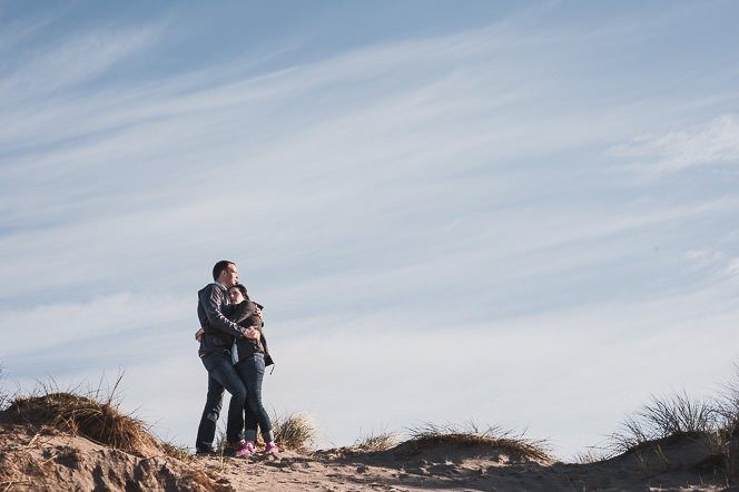Ursula and Colin Engagement Shoot at Portmarnock Beach in Dublin by Alternative Irish Wedding Photographer (45)