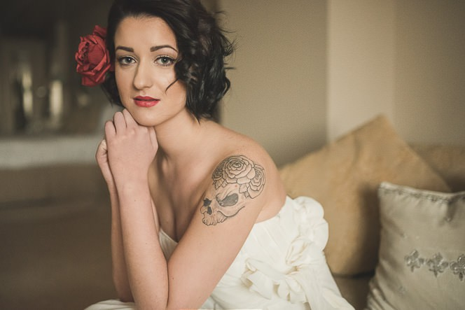 Alternative Natural Documentary Fine Art Wedding Photography Bride portraits in the Heritage Hotel Portlaoise 0013